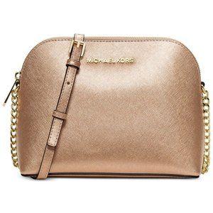 NWT MICHAEL KORS Large Cindy Crossbody Bag GOLD